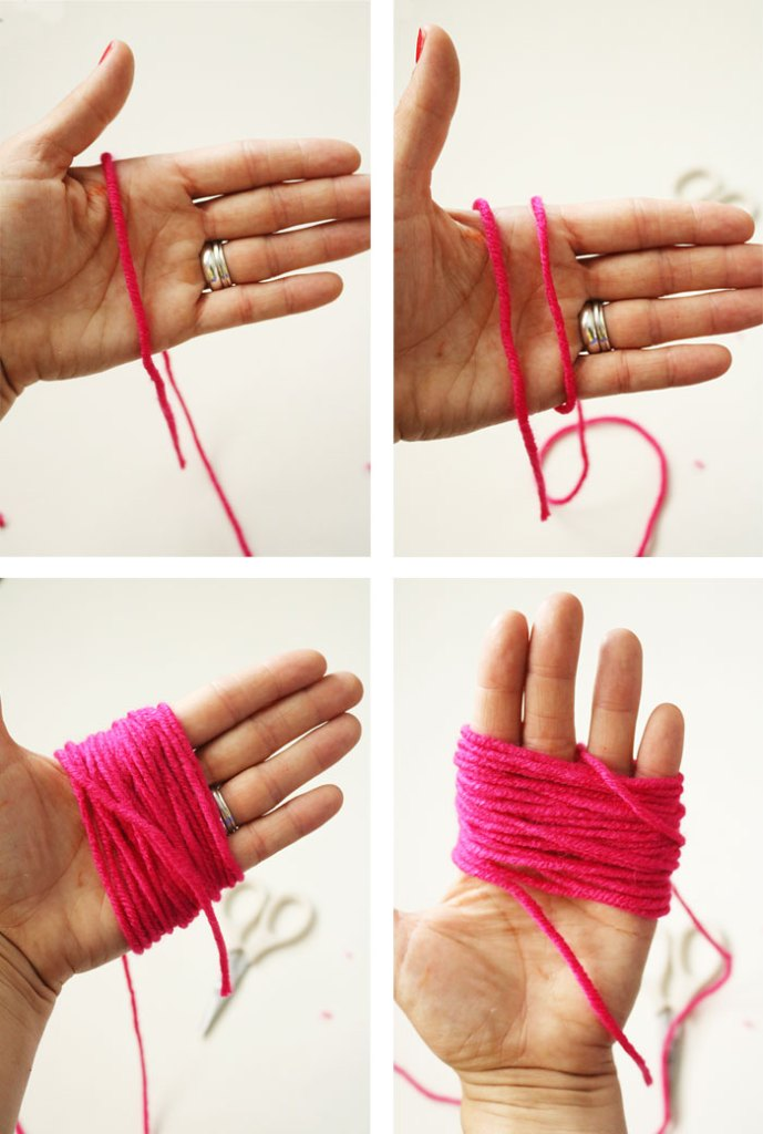 diy-pom-pom-yarn-bag-step1