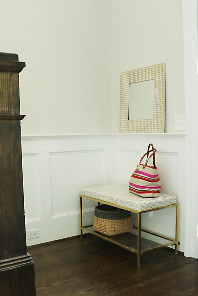 entry-way-metal-bench