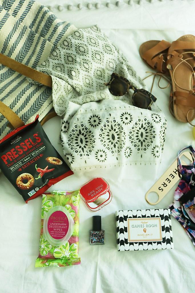 summer roadtrip essentials games and foods
