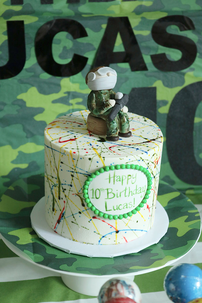 Fantastic Paintball Birthday Cake Darling Darleen A Lifestyle Design Blog Birthday Cards Printable Giouspongecafe Filternl