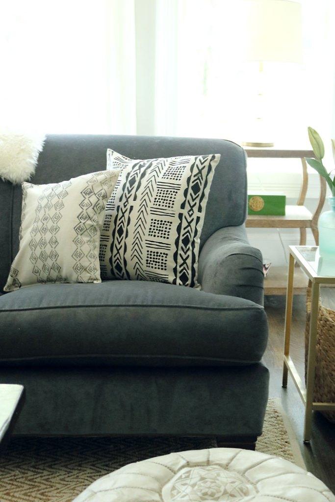 diy-mud-cloth-pillow-on-sofa-close-up