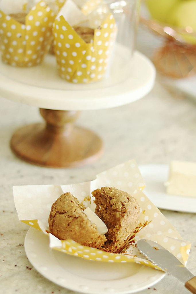 healthy-bran-muffin-with-butter