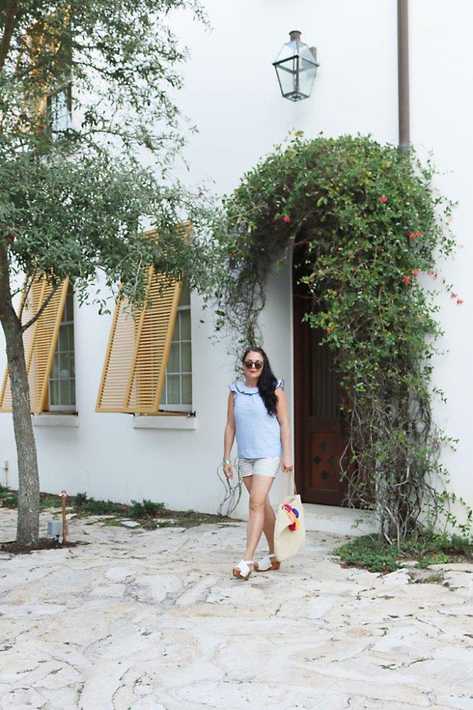 alys-beach-orange-shutters, alys beach florida, 30A, destin florida, florida panhandle, seaside florida, what to wear, ocean outfit