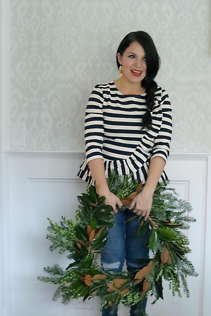 magnolia-wreath-diy-finish