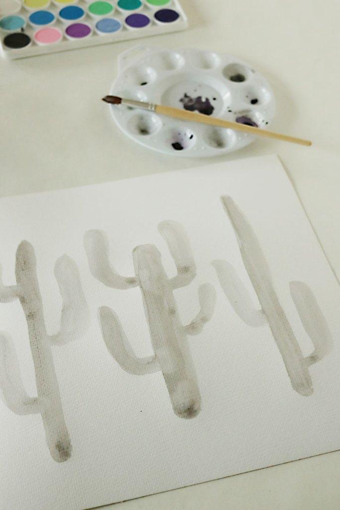 watercolor-project-5-minute-ideas-catcus