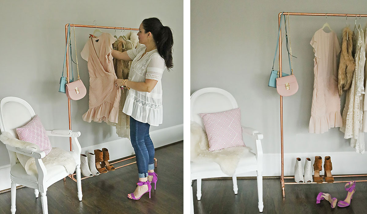DIY Copper Clothing Rack - Darling Darleen   A Lifestyle ...