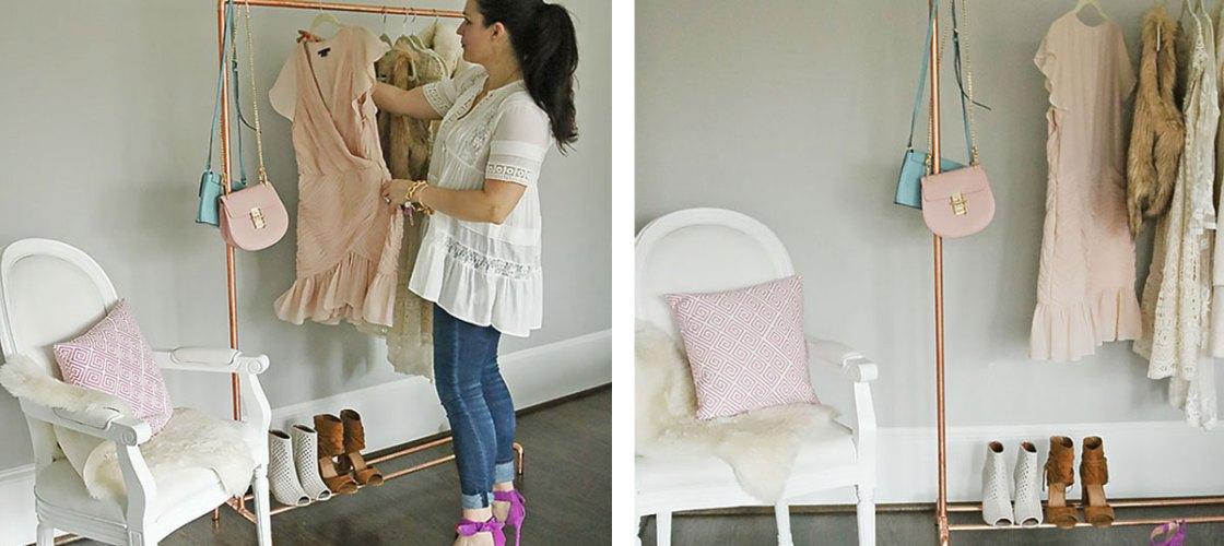 DIY Copper Clothing Rack