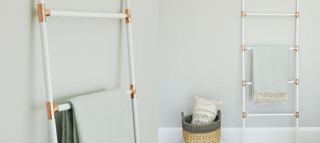 DIY Modern Blanket Ladder
