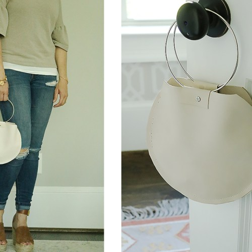 Round Leather Bag Tutorial