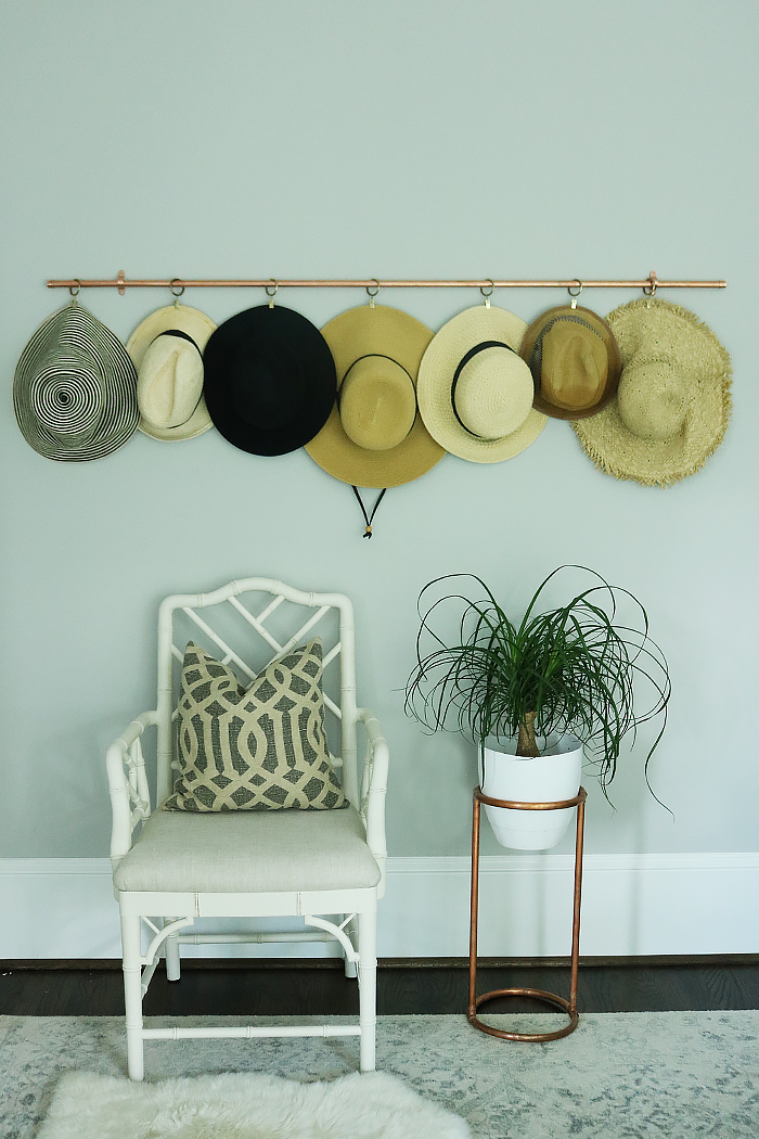 diy copper hat rack copper hat storage copper diy projects copper storing