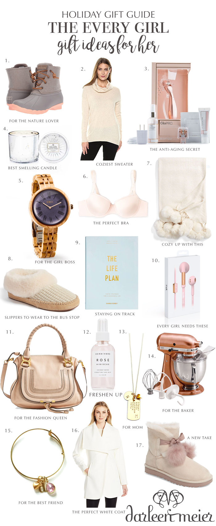 holiday gift guide 2017 for her holiday gift ideas for the every girl holiday  sc 1 st  Darling Darleen & Holiday Gift Guide for Her - Darling Darleen | A Lifestyle Design Blog