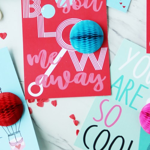 Valentine's Honeycomb Pop-Up Cards
