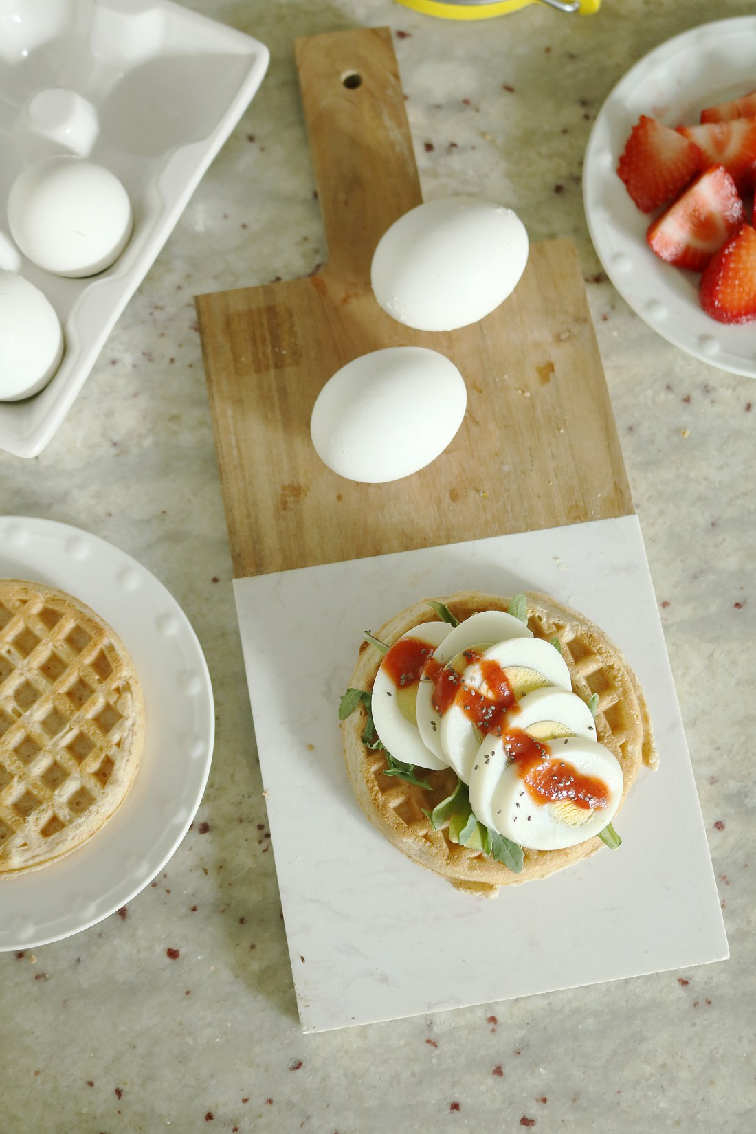 Sharing Quick Breakfast Ideas On the Go: Waffle Edition with the best kind of healthy waffle topping ideas along with TopBit protein food topping || Darling Darleen #darleenmeier #darlingdarleen #topbit