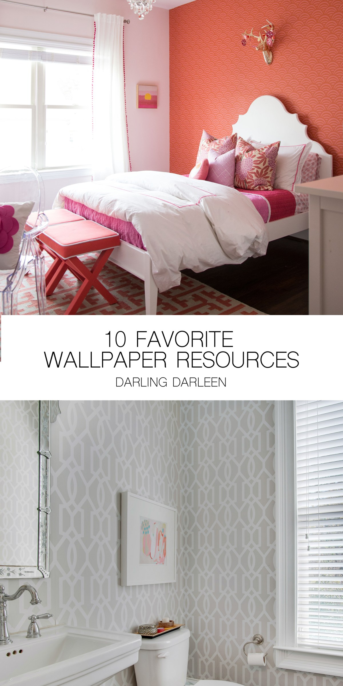 10 Favorite Wallpaper Resources for online shopping || Darling Darleen