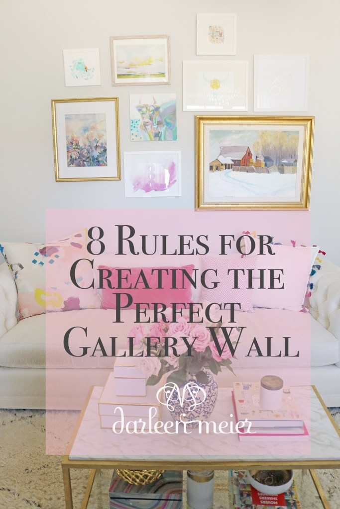 From grid style to eclectic, sharing 8 rules for creating the perfect gallery wall, how to create gallery wall, how to diy a gallery wall, gallery wall ideas, how to hang the perfect gallery wall, ideas for gallery wall, how to design a gallery wall || Darling Darleen #gallerywall #gallerywallideas #darlingdarleen