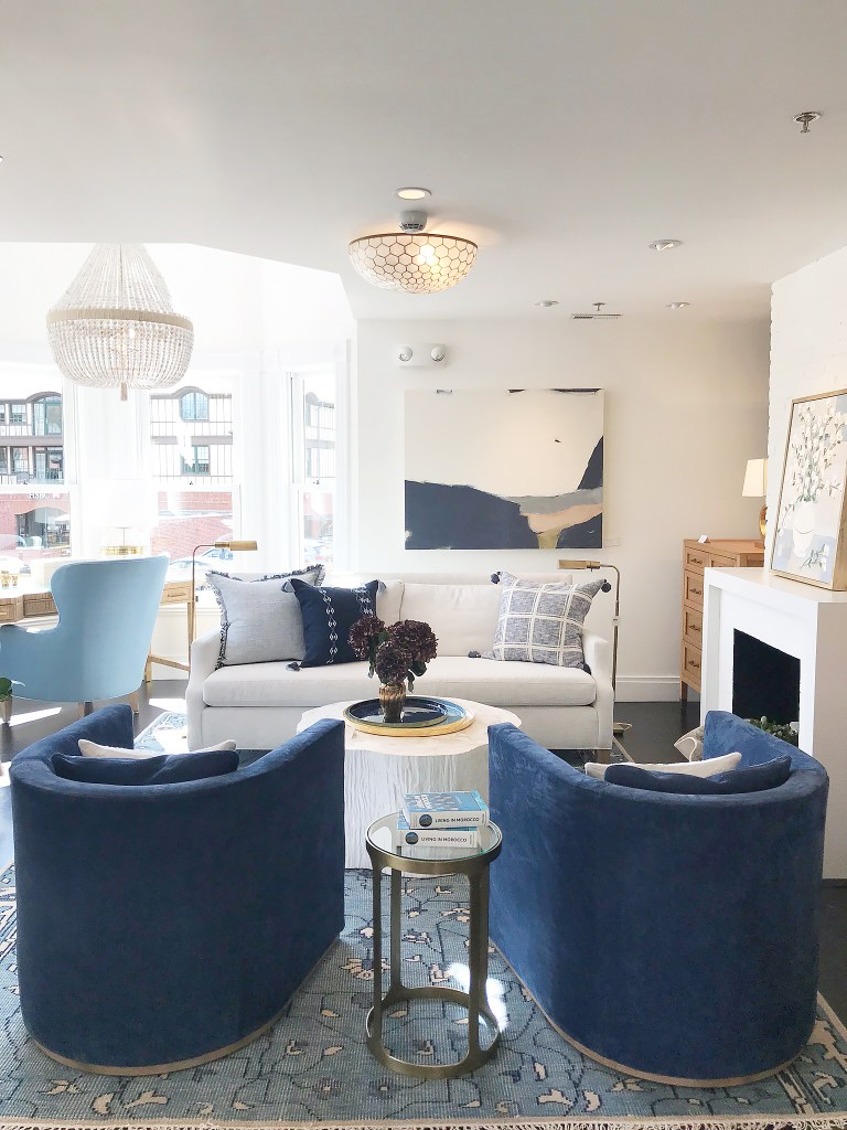 My favorite picks from Serena and Lily Sale Picks Friends and Family Fall 2019 | Serena and Lily Westport Store Living Room ||  Darling Darleen