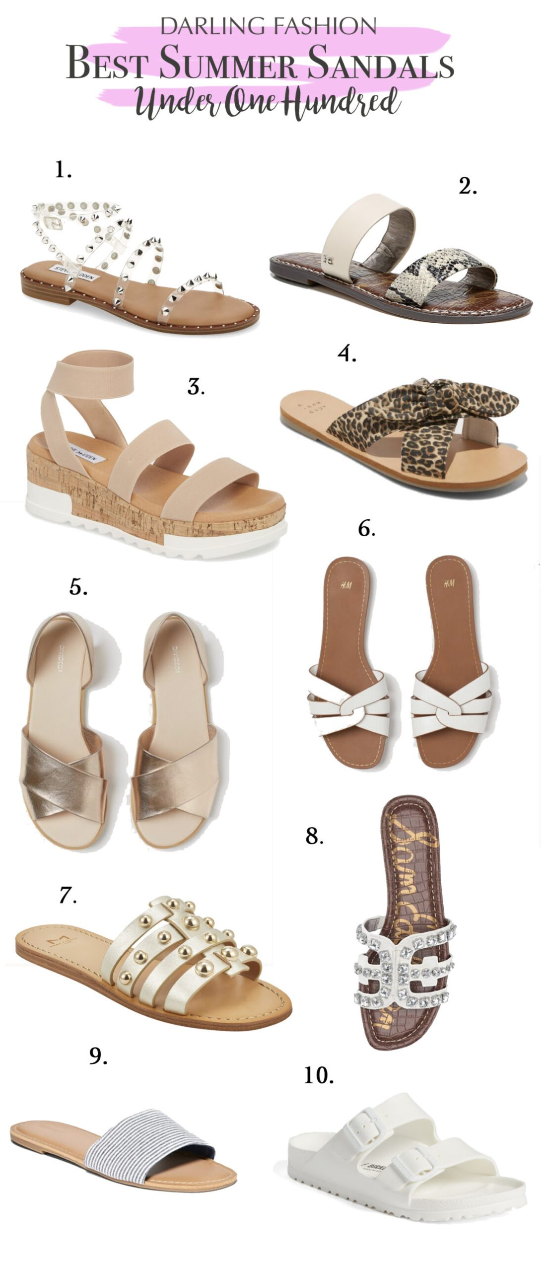 Best Summer Sandals under $100 that are on trend this season    Darling Darleen Top Lifestyle CT Blogger #summersandals #sandalsunder100