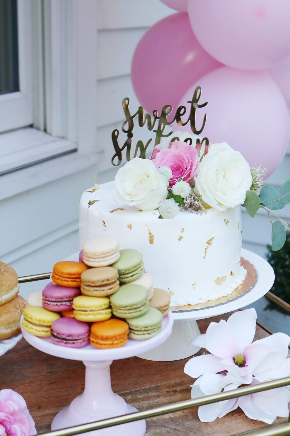 Boho Chic Sweet Sixteen Birthday Party Celebration with all the details and party plans.  Love the birthday cake. We did a sixteenth birthday photoshoot.  Perfect for any teenager turning 16! || Darling Darleen Top CT Lifestyle Blogger #sixteenthbirthday #sixteenthbirthdayparty