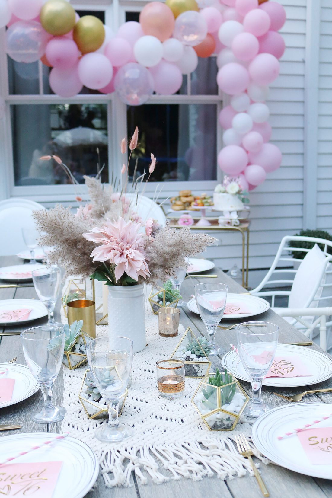 Boho Chic Sixteenth Birthday Party Celebration with all the details and party plans.  We did a sixteenth birthday photoshoot.  Perfect for any teenager turning 16! || Darling Darleen Top CT Lifestyle Blogger #sixteenthbirthday #sixteenthbirthdayparty