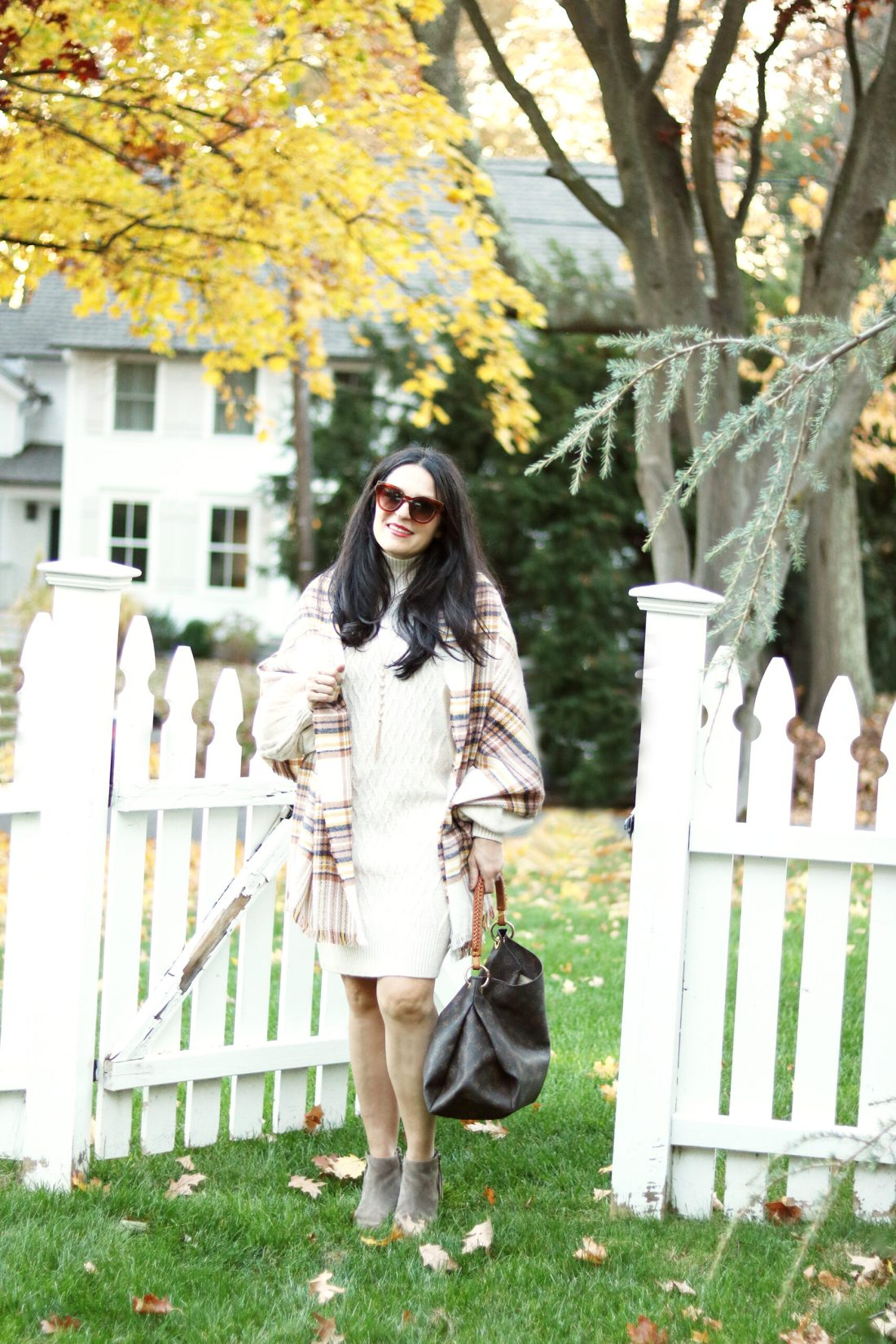 The classic sweater dress every girl needs in her sweater.  Also sharing 30 other sweater dress styles || Darling Darleen Top Lifestyle CT Blogger #sweaterdress