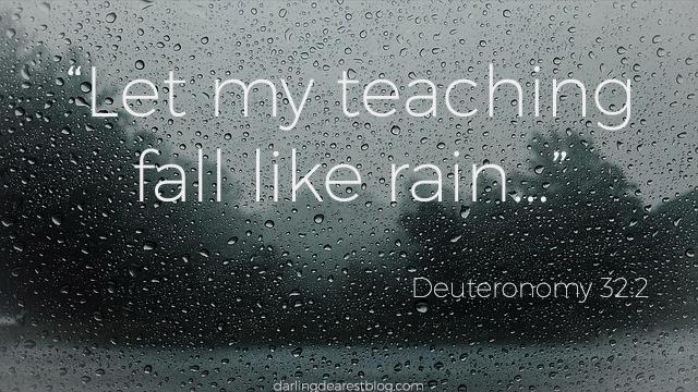 deuteronomy, bible verses about rain