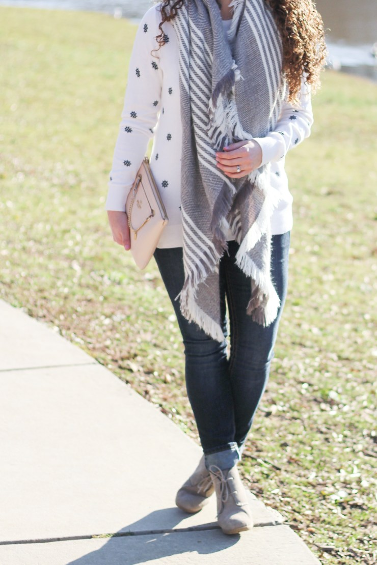 Nautical Look with a Blanket Scarf