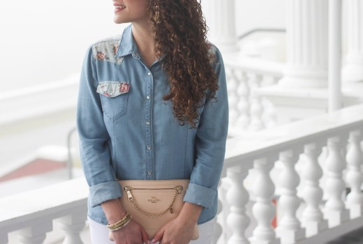 chambray and white spring look