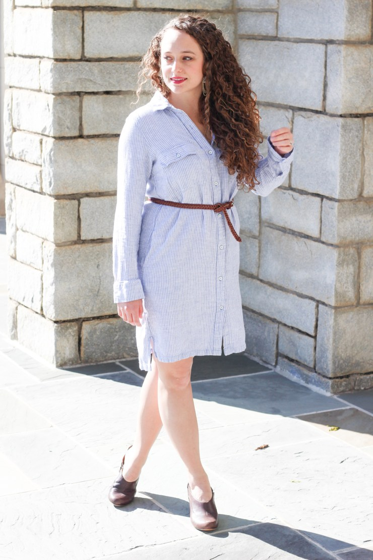 Old Navy Pinstripe Shirt Dress