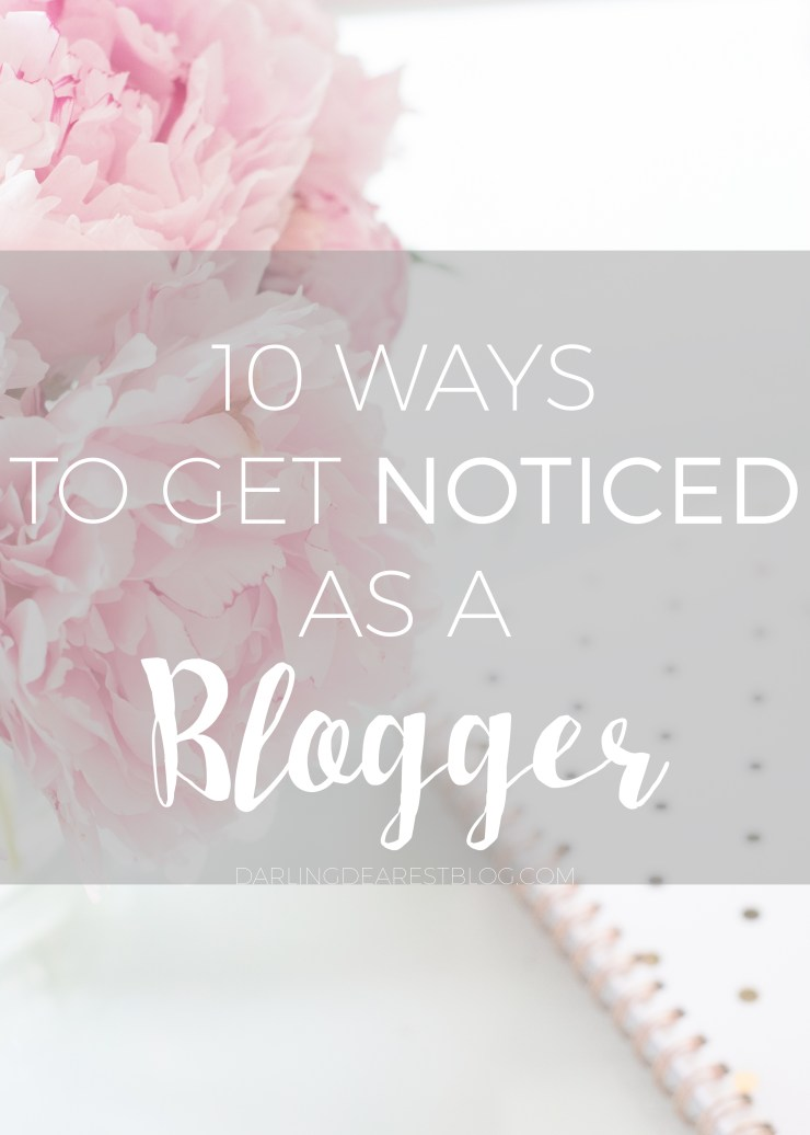 How to set yourself apart and get noticed as a blogger!