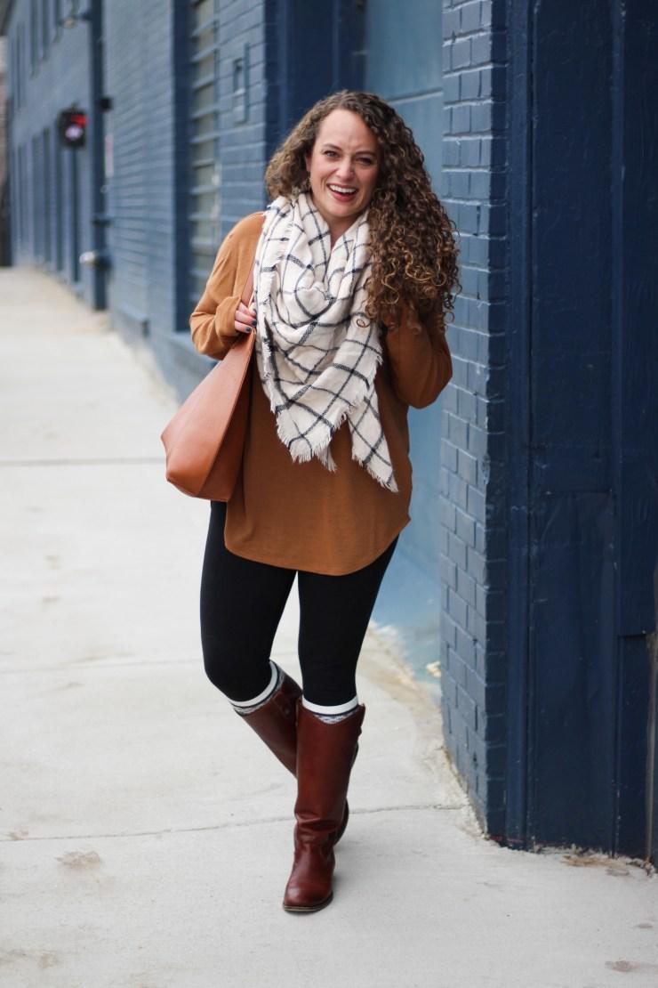 camel-tunic-grid-blanket-scarf-13