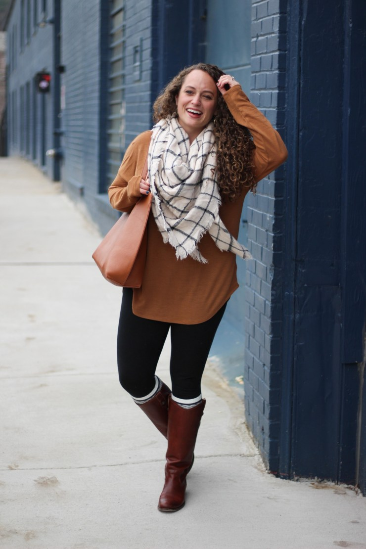 camel-tunic-grid-blanket-scarf-14