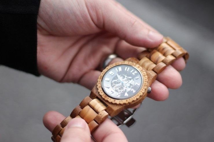 mens wooden watch, jord watch