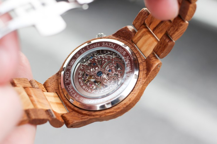 mens wooden watch, jord watch