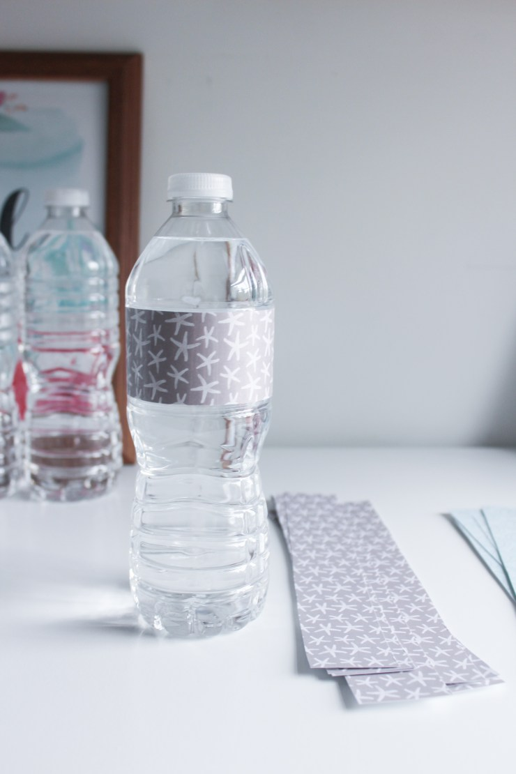 DIY Custom Water Bottle Labels with Nestle Pure Life #PureLife35pk #ad