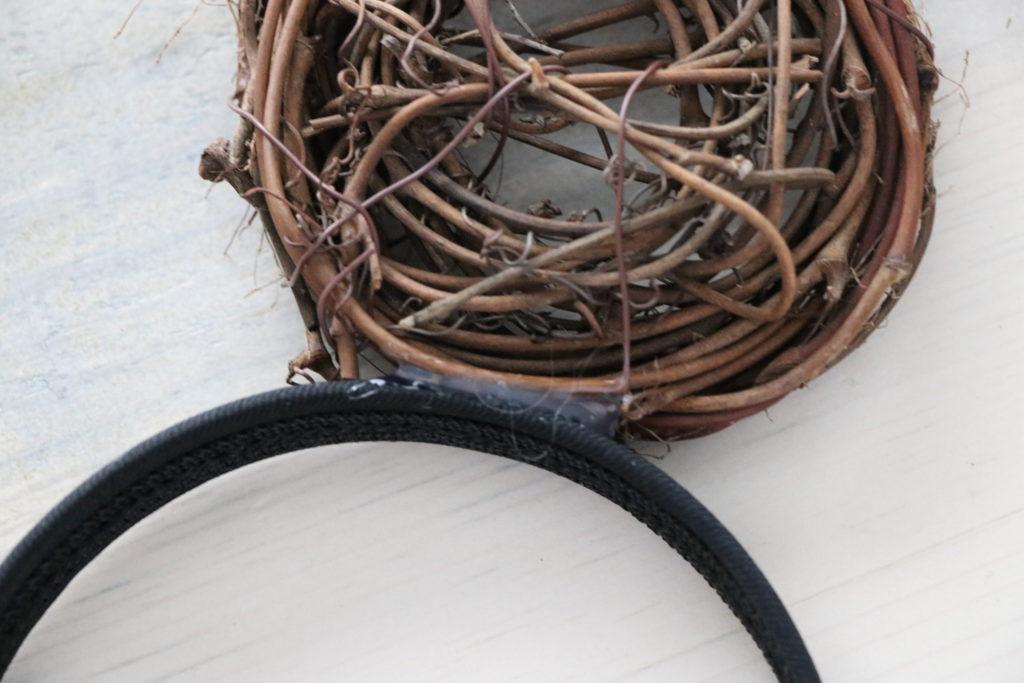 glue nest to headband