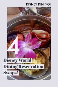 Here are 4 great Disney World dining Swaps! See Restaurants to visit in Disney World!