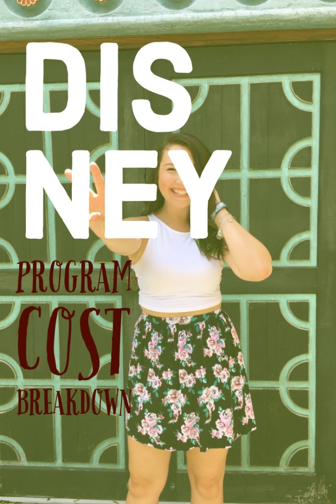 Disney Program: Cost Breakdown. The cost of doing a Disney program.