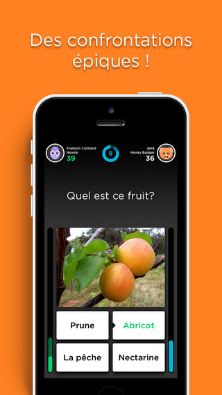 quizup, application, caputre ecran, duel
