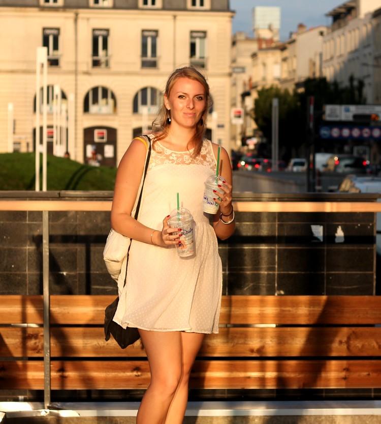 robe rose pale dentelle plumetis vero moda starbuck, paulette magazine ambassadrice tote bag mango sac 5