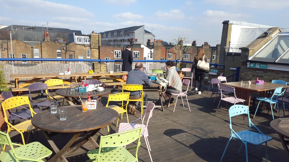 english breakfast, rooftop, londres, dejeuner, terrasse, marylebone, nord ouest, burger, frites, jus frais5