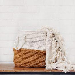 midcentury modern basket crochet pattern