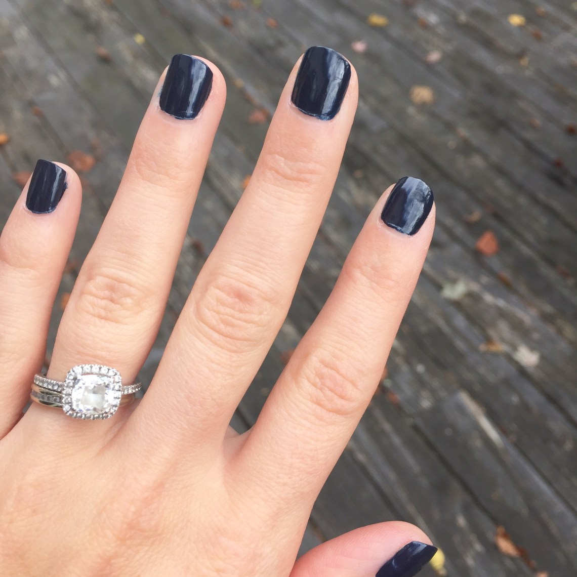 nail color for fall - navy