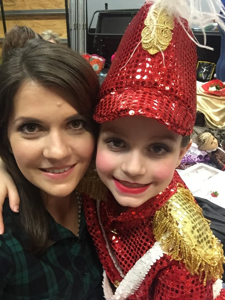 backstage at Nutcracker with Brilee