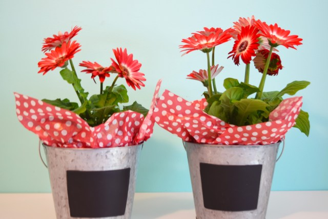 Metal Bucket Flower Container Teacher Gift 2
