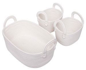 white cotton baskets