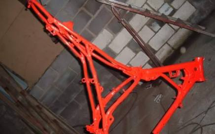 Motorcycle Frame Powder Coated