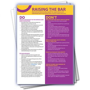 Raising the bar: How to be an intersex ally