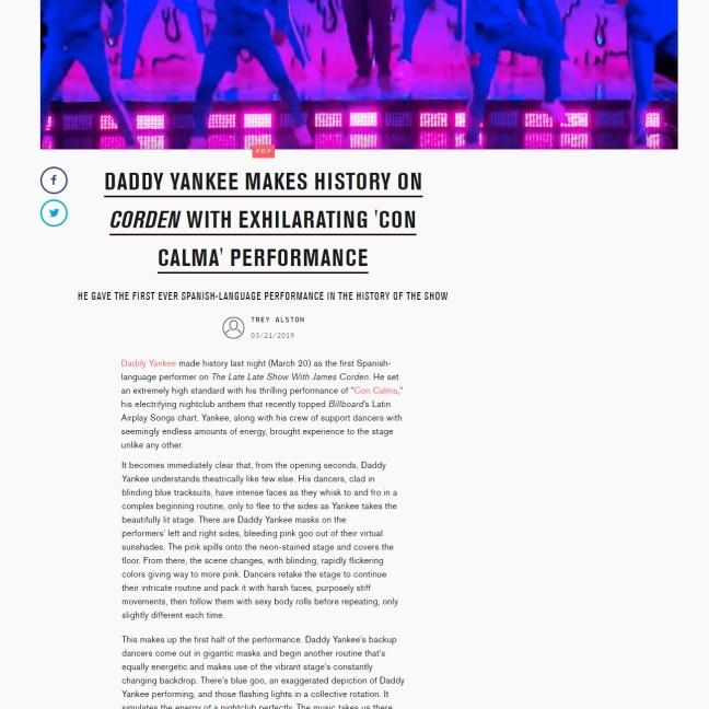 MTV - Daddy Yankee @ James Corden