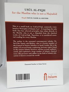 Usul Al-Fiqh For The Muslim Who Is No A Mujtahid (PB)