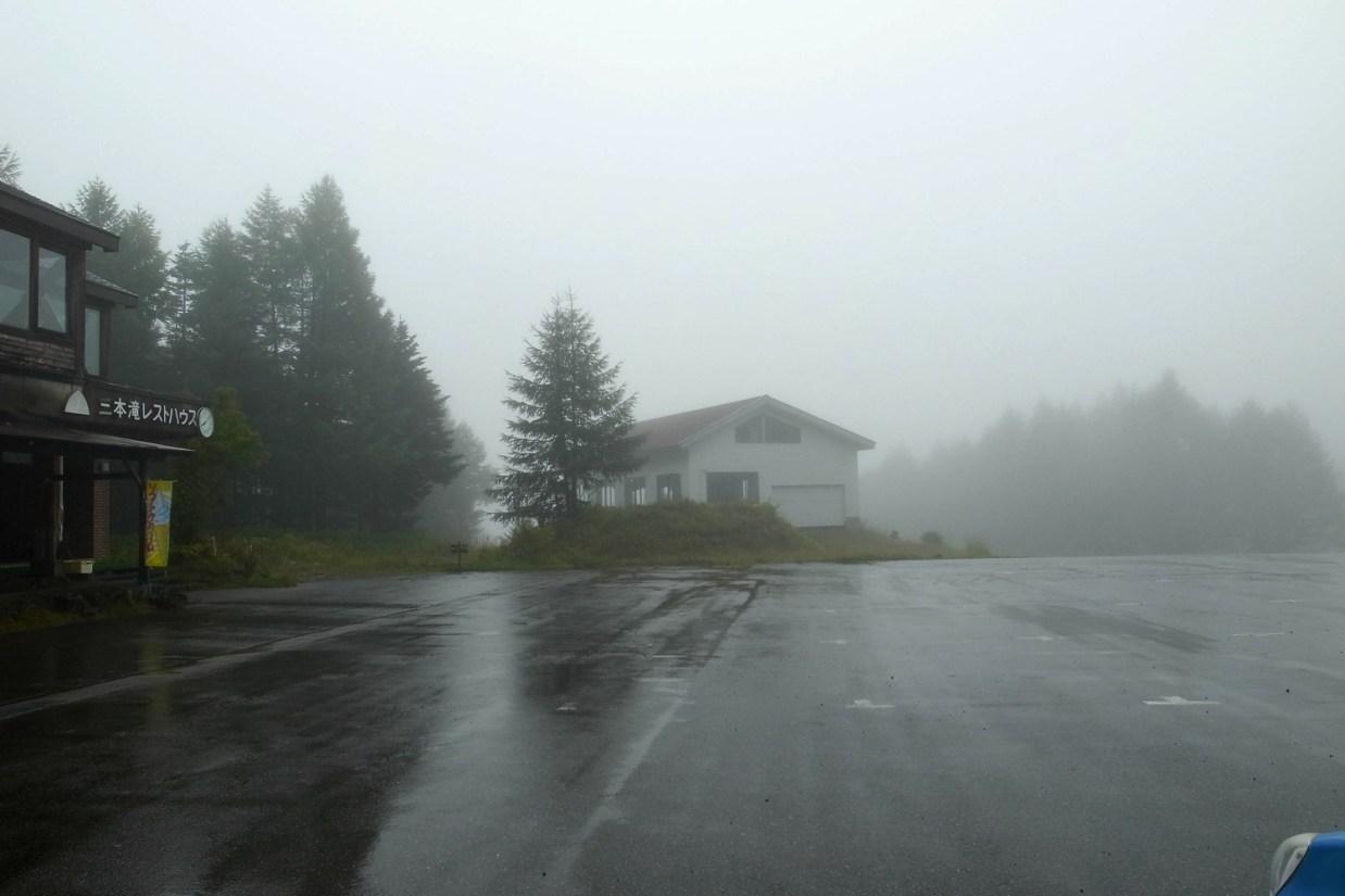 乗鞍岳登山のため三本滝まで車で移動